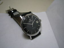 OMEGA SEAMASTER DE VILLE AUTOMATIC DATE BLACK DIAL STAINLESS STEEL 1960 WATCH