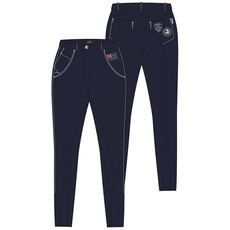 HV polo montar Pepa ribete de pleno, bolsillos jeans cremallera pulsador
