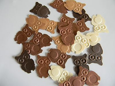 100 - Martha Stewart hand punched mixed brown color owl die cuts, party,confetti