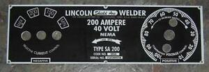 Lincoln-Electric-Arc-Welder-SA-200-M-6549-025-Aluminum-Control-Plate