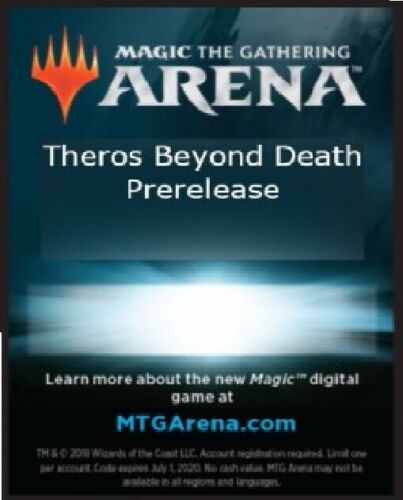 MTG Magic Arena Theros Beyond Death 6x Booster Pack Code EMAIL ONLY