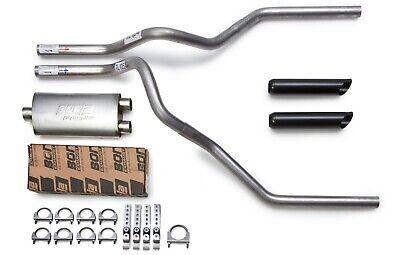 15-18 GMC Sierra Truck Mandrel Dual Exhaust Stainless Flow II Muffler Black Tips