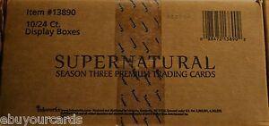 Supernatural-Season-3-inkworks-Sealed-Case-10-Box-Lot-Auto-Costume-Trading-Cards