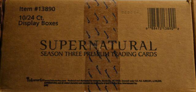 Supernatural Season 3 inkworks Sealed Case 10 Box Lot Auto Costume Trading Cards