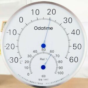 2 PCS ODATIME TH802 Stainless Steel Temperature And Humidity Hygrometer Gauge