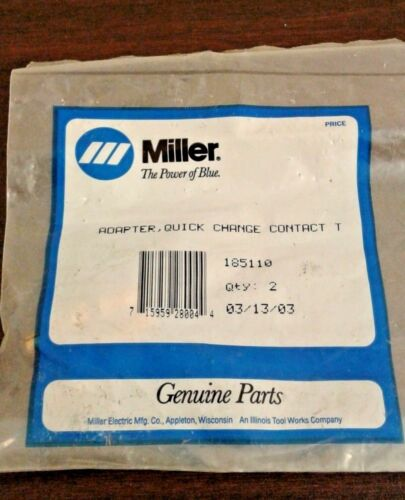 2 pack FREE SHIPPING Quick Change Contact Tip 185110 Miller Adapter