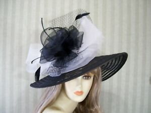 Image is loading Kentucky-Derby-Black-and-White-Hat-Easter-Hat- 154f89f0936