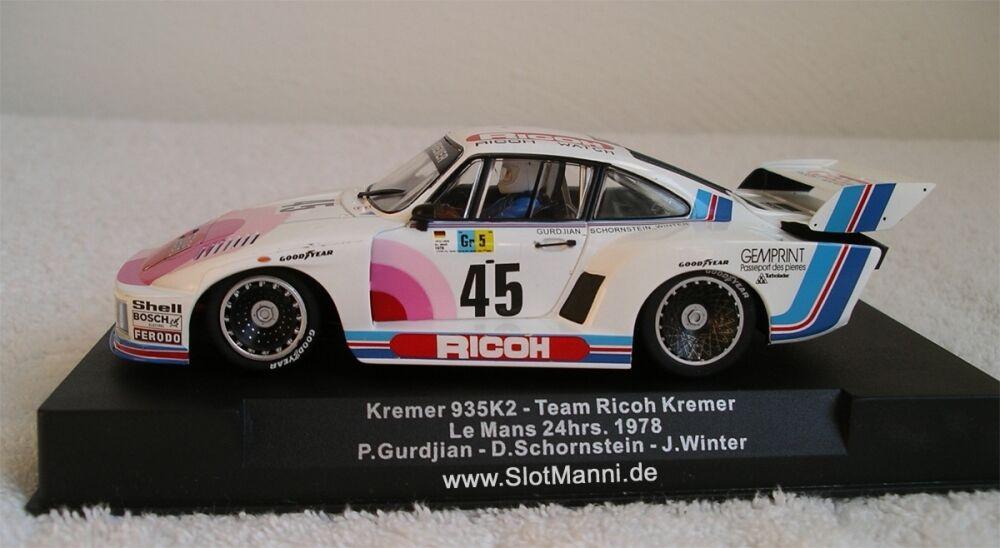 SidewaysPorsche 935 Kremer Le Mans 24hrs 1978  M 1 32 neu
