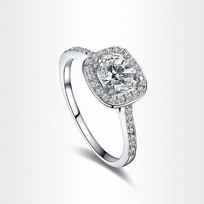 Hot White Gold Plated FASHION Crystal Rhinestone Wedding Engagement Womens Ring