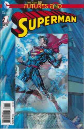 SUPERMAN FUTURES END #1 NEAR MINT LENTICULAR 2014 UNREAD DC COMICS bin-2017-5821