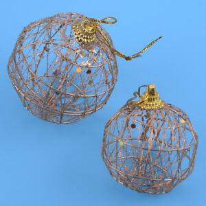 Fil-Paillettes-Mariage-6-Boules-Fete-D-039-ornement-Decoration-Boules-De-Noel-Arbre