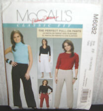 c65a80772a5 item 3 Womens Misses Classic Fit Pull On Pants Sewing Pattern McCall s  M6082 SZ 16-22 N -Womens Misses Classic Fit Pull On Pants Sewing Pattern  McCall s ...