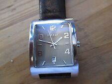 mens large cased DKNY WATCH, QUARTZ NON RUNNER,,SPARES REPAIRS