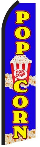 POPCORN Swooper Kettle Corn Food Flag Tall Vertical Feather Bow Banner Sign