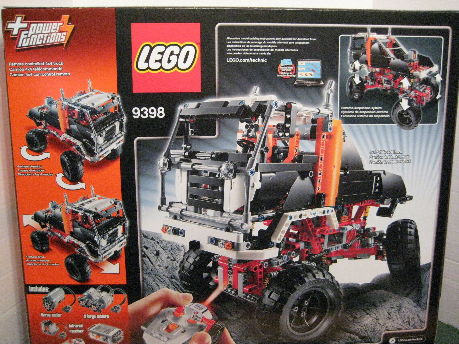 Lego Technic     9398 4 X 4 Crawler Power Stearing Remote Control 936bea