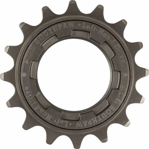 "ACS Southpaw Single Speed Bike Freewheel Left Hand Drive 16t 3//32/"" Gun Metal NIB"