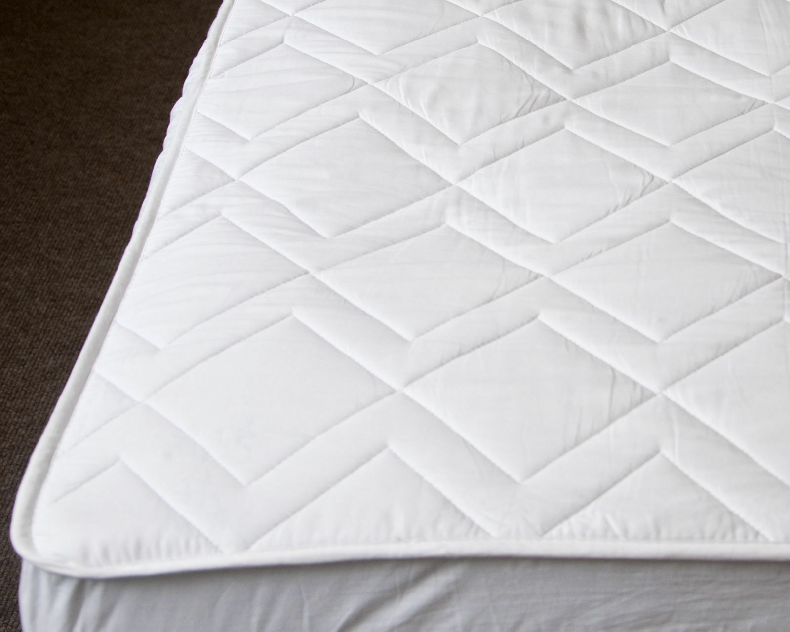 Premium Keep Cool Cotton Mattress Protector Fitted Sheet 3D Air relax All Größes