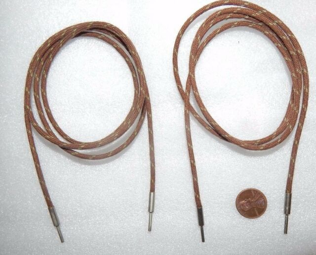 2 PIECES * NOS * WESTERN ELECTRIC CLOTH AUDIO WIRE USA 1950'S STRANDED 22 6FT GA