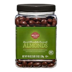 Wellsley-Farms-Dark-Chocolate-Covered-Almonds-Whole-Roasted-45oz-No-Ship-Califor