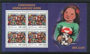 Greenland Sc B29a 2004 Society of Children stamp sheet mint NH