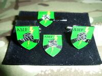 AMF Ace Mobile Force Badge Cufflink / Tie slide/ lapel pin set