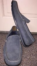 Geox Respira Driving Moccasins Loafers Shoes Slip Ons Blue Leather Size 45 11.5