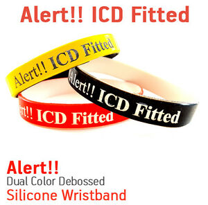Image Is Loading Icd Ed Medical Alert Silicone Wristband Bracelet Help