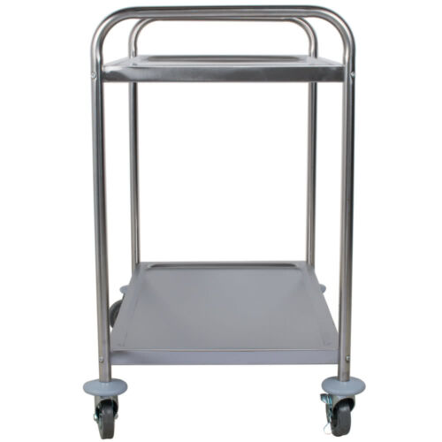 """21/"""" x 33/"""" Stainless Steel Commercial Two 2 Shelf Utility Kitchen Office Bus Cart"""