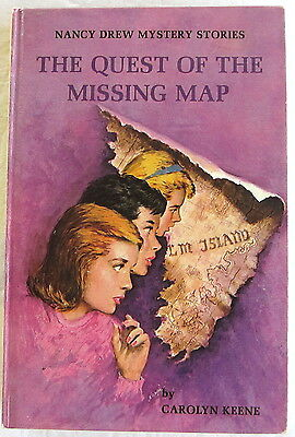 Nancy Drew #19 Quest of the Missing Map Vintage Carolyn Keene PC
