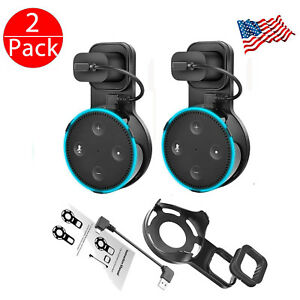2Pcs-Outlet-Wall-Mount-Stand-Holder-Stand-for-Amazon-Alexa-Echo-Dot-2-Generation