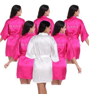 Image Is Loading New Set Of 6pcs Bride Bridesmaid Robe Wedding