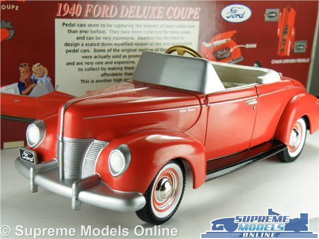 Ford deluxe coupé 1940 auto model 24 größe getriebe 69501 tretauto, rote usa k8