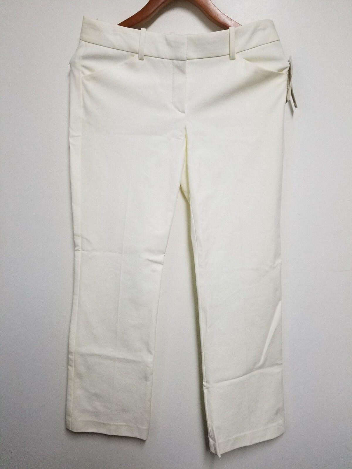 Theory Women's Ivory White Long Pants  235 - Size 4