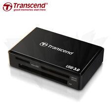 Transcend USB 3.0 Multi-Card Reader SD/SDHC/SDXC/MS/CF Cards (TS-RDF8K) Schwarz