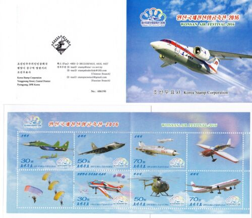 L9034, Korea Wonsan Air Festival Stamp Booklet, with Fight Jet, 2015