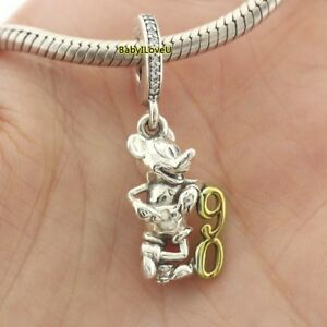 925-Sterling-Silver-Disne-Mickey-039-s-90th-Anniversary-Limited-Edition-Charm-Dangle