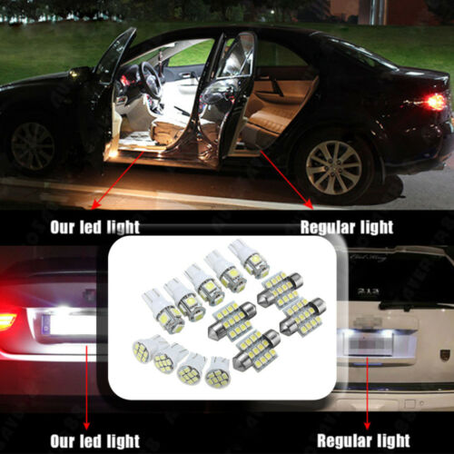 13x White LED Package Interior For Dome Map License Lights T10/&31mm Bulb Lamp CH
