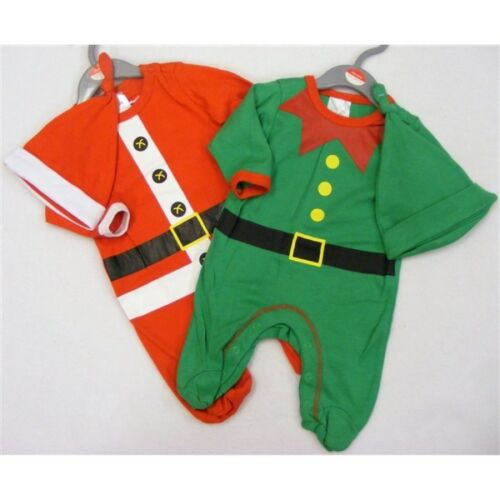 Unisexe Bébé Noël Elf Santa Costume Ange Baby Grow Garçons Filles