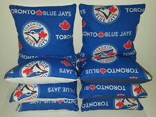 SET OF 8 ALL WEATHER TORONTO BLUE JAYS CORNHOLE BAGS ***FREE SHIPPING!!!***