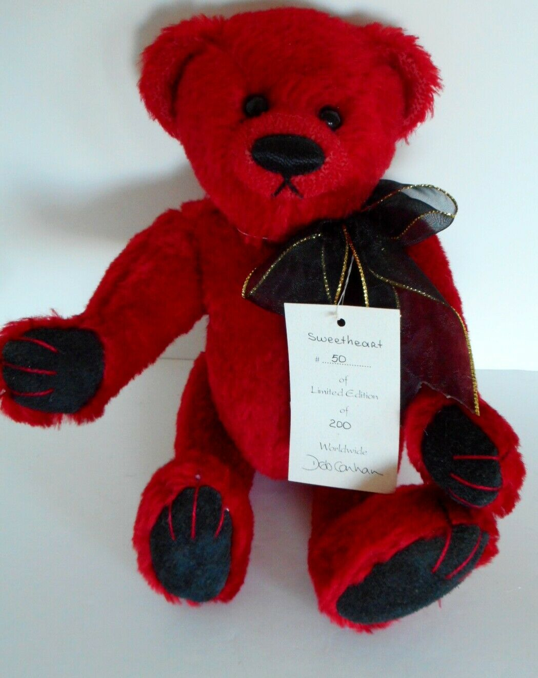 Deb Canham Bigger Bear  Sweetheart , 11 Inches, Jointed MWT 50 200