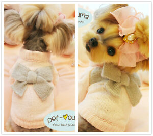 Xs S M Girl Dog Knit Sweater Winter Coat Pet Clothes For Maltese