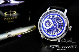 Mechanical-watch-BOUTTE-Galileo-Galileo-Automatic-Blue-dial-43mm