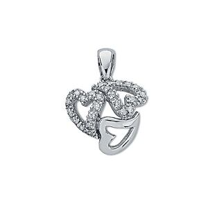 9ct white gold 013ct diamond entwined heart trilogy pendant ebay image is loading 9ct white gold 0 13ct diamond entwined heart audiocablefo