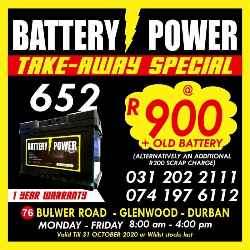 652 Car Batteries on Special !!!!