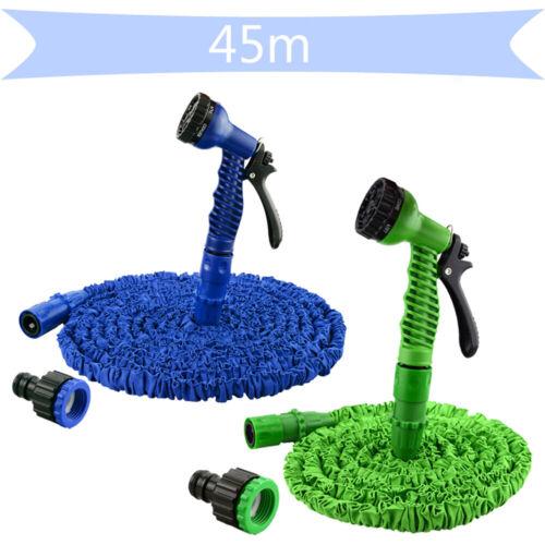 45m Flexibler Wasserschlauch Dehnbarer Schlauch Grün//Blau Gartenschlauch 7.5m