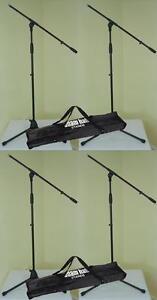 4-St-ADAM-HALL-Mikrofon-Staender-ECO-mit-Tasche-Mikrofonstativ-Schwenkarm-Galgen