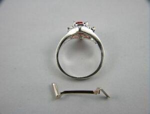 3 14k white gold ring guard ring tightener ring sizer