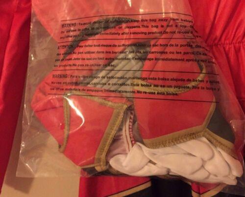 DISGUISE Saban Power Rangers Super Mega Force RED RANGER MUSCLE COSTUME CHILDREN