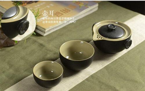 Chinese portable tea set pottery tea pot tea cups for travel ceramic pot of tea
