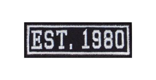 Established 1980 Biker Patch ricamate year est founded fondato since MC dal
